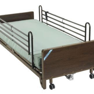 Drive- Full Electric Ultra Light Plus Low Hospital Bed 15235BV-PKG-2 with Foam Mattress & Full Rails