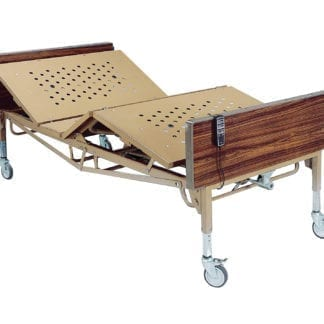 """Drive-Full Electric Bariatric Adjustable Hospital Bed 15303BV-PKG with Foam Mattress & 1 pair """"T"""" Rails-0"""