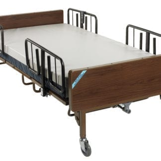 "Drive- Heavy Duty Bariatric Hospital Bed 15300BV-PKG-2 with Foam Mattress & 2 pair ""T"" Rails"