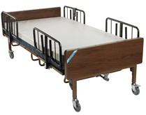 """Drive- Heavy Duty Bariatric Hospital Bed 15300BV-2HR with 2 pair """"T"""" Rails"""