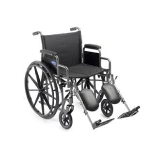 "Invacare- Veranda Wheelchair 20""x16"" Frame with Desk Length Removable Arm and Elevating Legrest V20RLR"