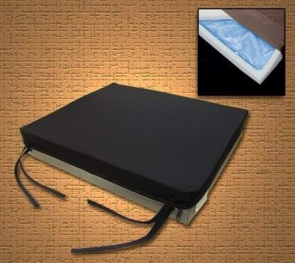 """Mason- Gel-U 20""""x16""""x3"""" Gel/Foam Seat Cushion with Knit Cover 8045-3"""