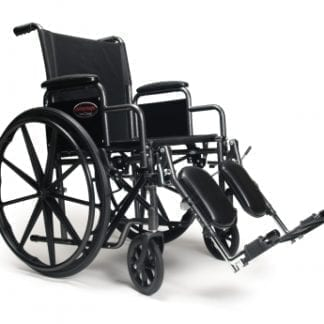 "GF- E&J Wheelchair Advantage 18"" x 16"" Vinyl, FIxed Full Arm, Elevating Legrest 3H011100"