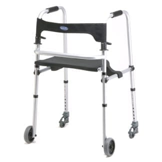 "Invacare- Walklite Tall Adult Walker with 5"" Wheels 6300-ATA"