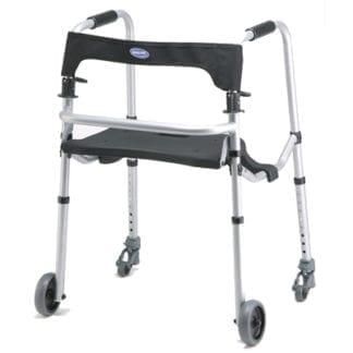 "Invacare- Walklite Adult/ Junior Walker with 5"" Wheels 6300-JRA"