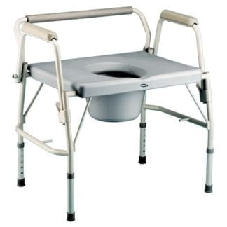 Invacare- Bariatric Drop-Arm Commode 6599