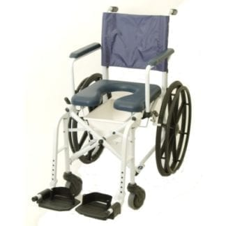 "Invacare- Mariner? Rehab 16"" Shower Commode, 5"" Front Casters and 23"" Rear Wheels 6795"