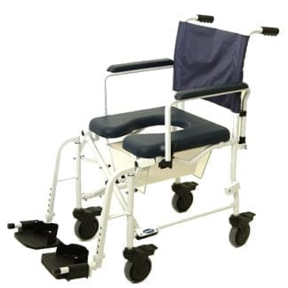 "Invacare- Mariner? Rehab 18"" Shower Commode, 5"" Casters in Front and Rear Shower Chair 6891"