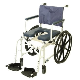 "Invacare Mariner? Rehab Shower Commode 18"", with 5"" front Casters and 23"" Rear Wheels 6895"