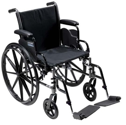 "Temcare- Cruiser III Lightweight, Dual Axel Wheelchair, 18""-Elevated Foot"
