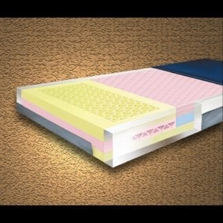 """Mason-Multi-Ply ShearCare 900 Pressure Reducing 36""""X76""""X6"""" Mattress with Fire Barrier and Side Rails. 900SC-2"""