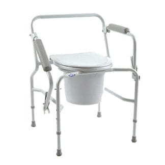 Invacare- Drop-Arm Commode offers a 250lbs Wt. capacity 9669