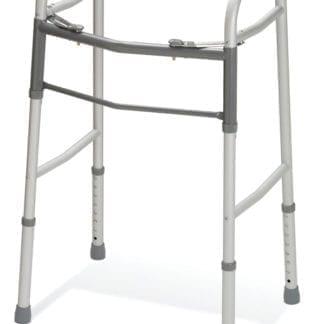 Medline- Guardian Two-Button Folding Walker without Wheel ADJ. 1IN Adult. MDS864104H