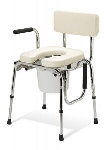 Medline- Guardian Padded Drop-Arm Commode G98204