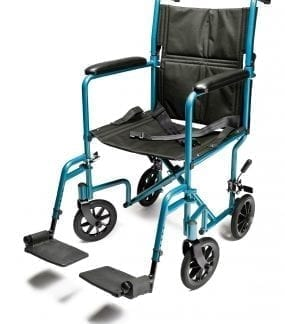 "GF- E&J Lightweight Aluminum 19"" Wide Transport Chair EJ780-1"