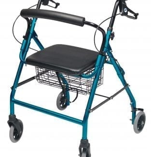 GF- Lumex Walkabout Wide Four-Wheel Rollator RJ4318(AQ-R)