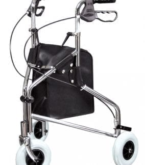 GF- Lumex Sure-Gait II Chrome Three-Wheeled Rollator 609101A