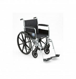 Medline- K1 Basic Wheelchair PERM FLA, S/A FT MDS806150EE