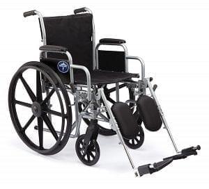 "Medline- K1 Basic Wheelchair 18"" DLA, ELR. MDS806300EE"