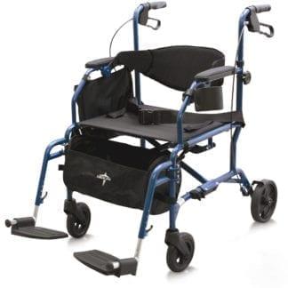 Medline-Combination Rollator / Transport Chair MDS808200TR