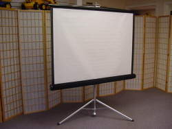 "Projection Screen 144"" Diagnonal, 8 ft square Screen"