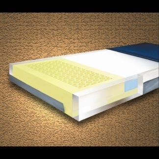 """Mason- Multi-Ply ShearCare1100 Pressure Reducing 36""""x76""""x6"""" Mattress with Visco Memory Foam Top Zone and Fire Barrier. 1100SC-1"""