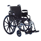 "Invacare- Tracer SX5 Wheelchair 20""x16"" Frame with Flip-Back Fixed Height Full Length Arm TRSX50FBFP"