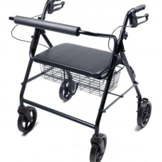 GF- Lumex Walkabout Four-Wheel Imperial Rollator - Straight Backbar RJ4405B
