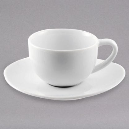 Cup and Saucer Set, White Cup and Saucer Set